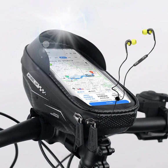 Front Bike Bag Frame Front Top Tube Cycling Bag Reflective 7 inch Phone Case Touchscreen Bag