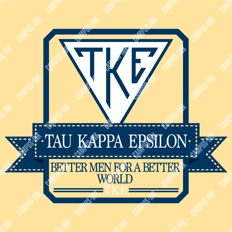 Tau Kappa Epsilon Preppy Box Logo Design
