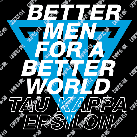 Tau Kappa Epsilon Italicized Design
