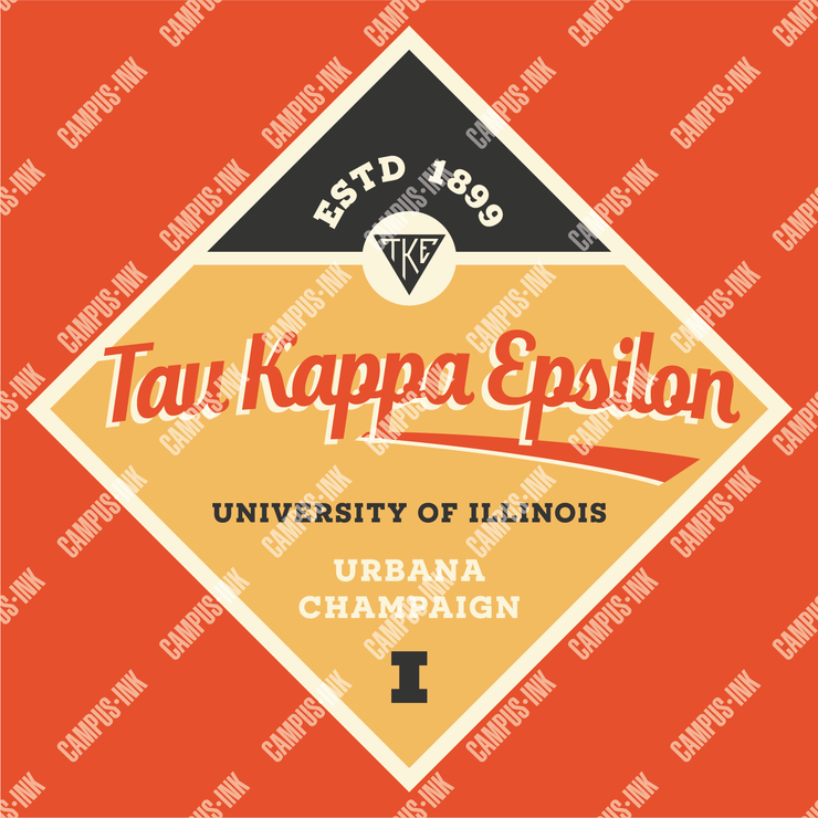 Tau Kappa Epsilon One Diamond Print Design