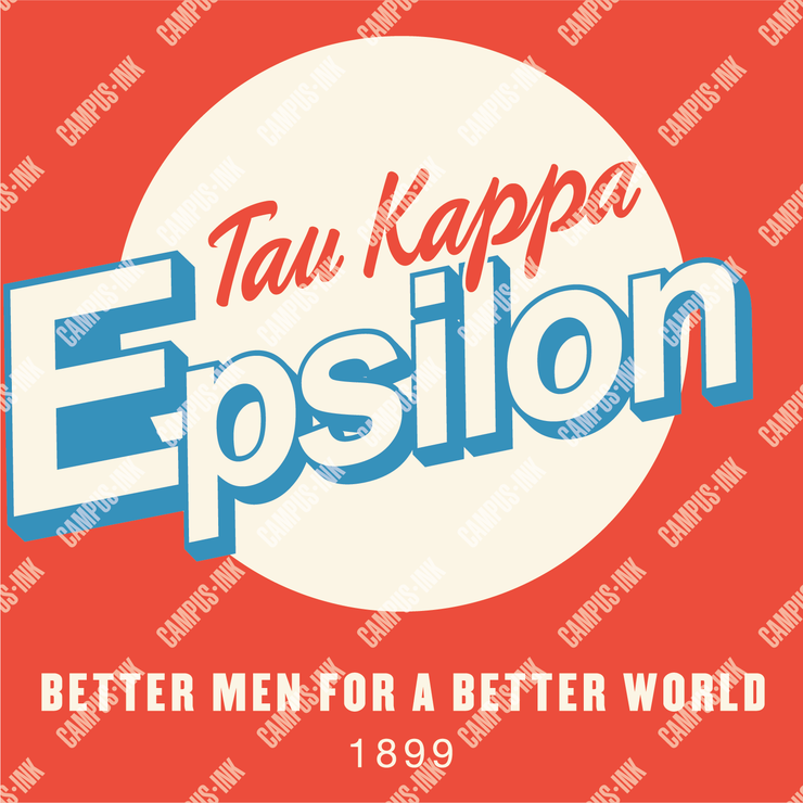 Tau Kappa Epsilon Retro Circle Design