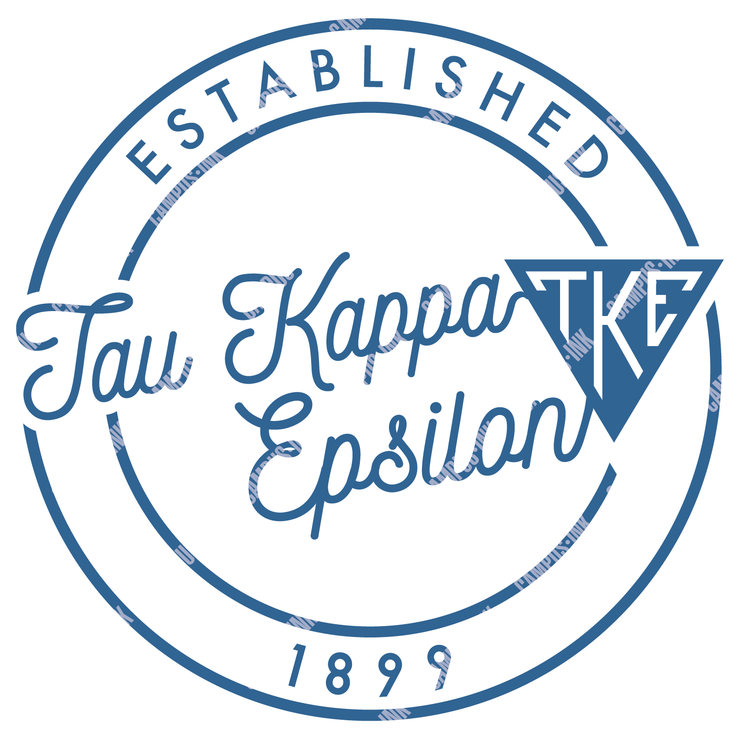 Tau Kappa Epsilon Triangle Circle Badge Design