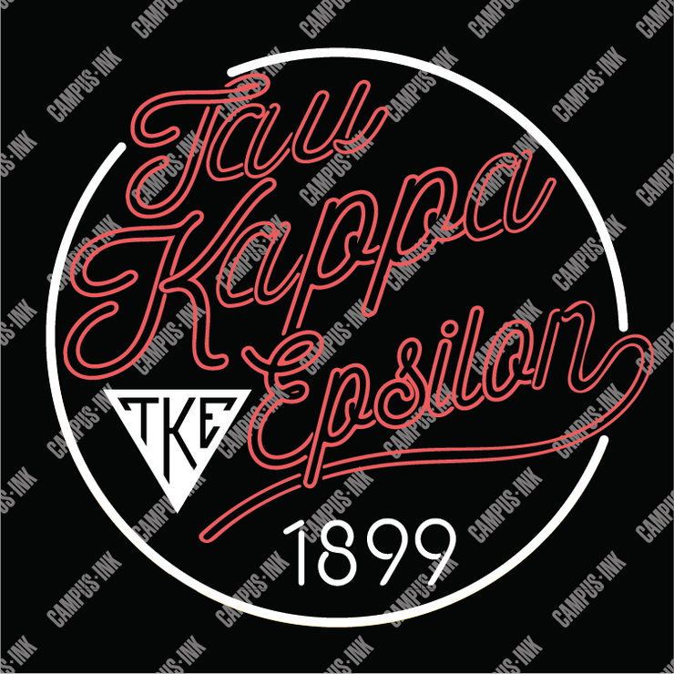 Tau Kappa Epsilon Neon Sign Design