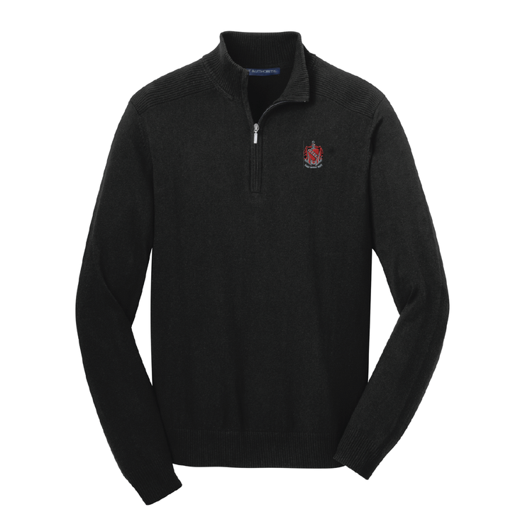 TKE Coat of Arms 1/2 Zip Sweater