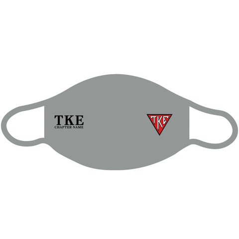 PRE-ORDER Custom TKE Chapter Grey Fabric Mask (100 Pack)