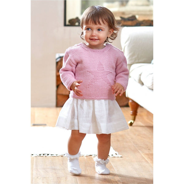 5269 DMC BABY COTTON STAR SWEATER PATTERN