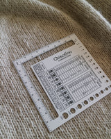 CHIAOGOO SWATCH/NEEDLE GAUGE SQUARE