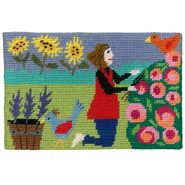 Jennifer Pudney Needlepoint I'd Rather Be Gardening