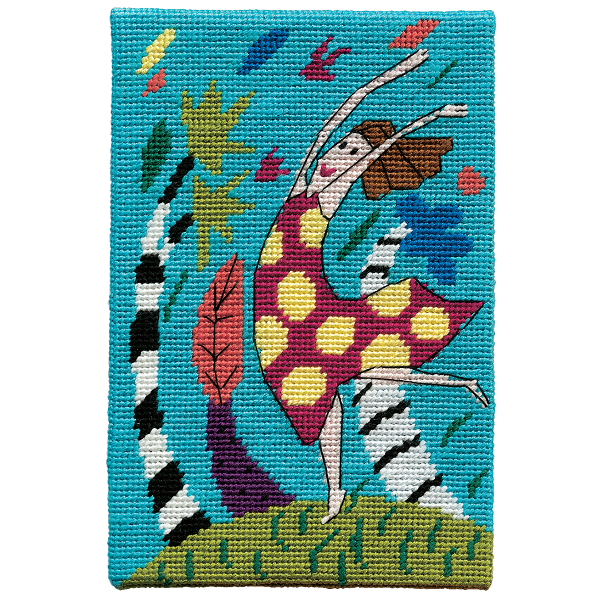 Jennifer Pudney Needlepoint Wind Dancer Blue Skies