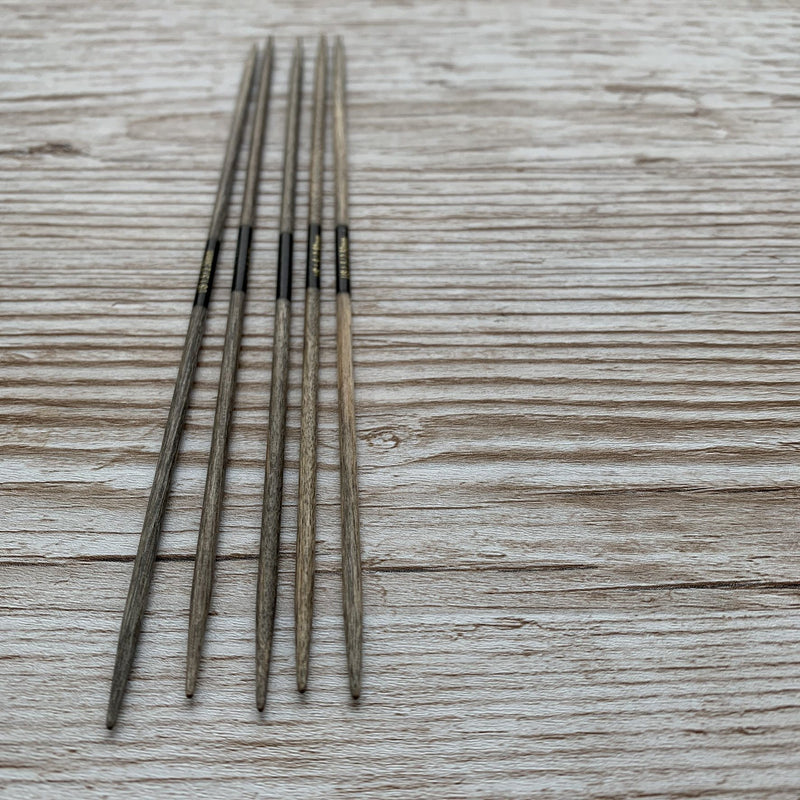 "DRIFTWOOD 6"" DOUBLE POINT WOODEN NEEDLES"