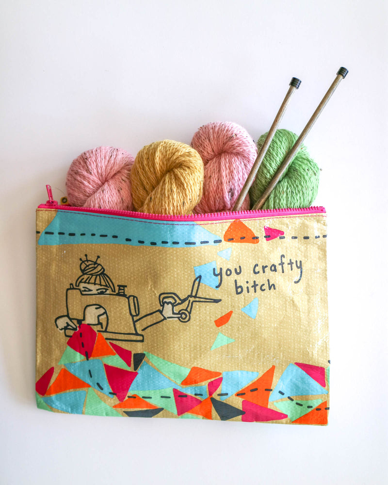 YOU CRAFTY BITCH JUMBO ZIPPER POUCH