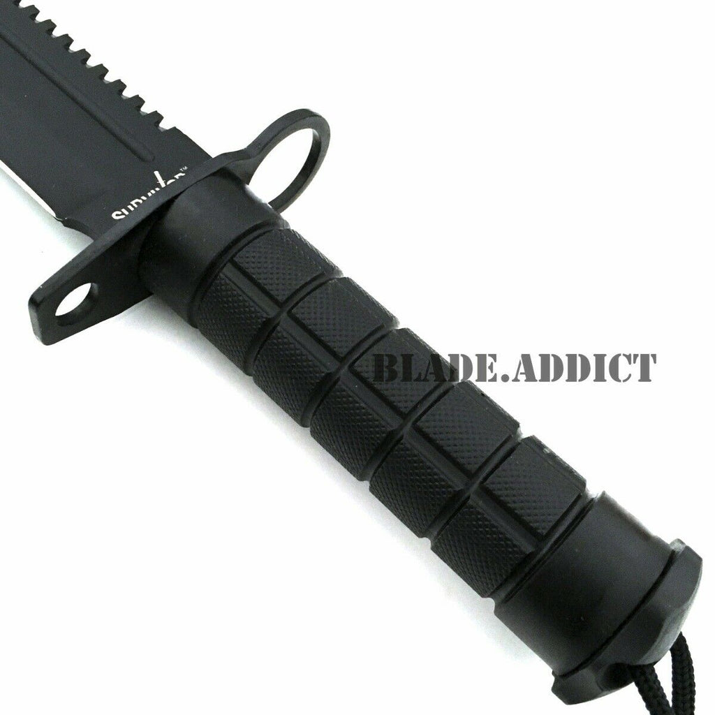 "12"" Tactical Hunting Rambo Combat Fixed Blade Knife Machete Bowie Survival Kit"