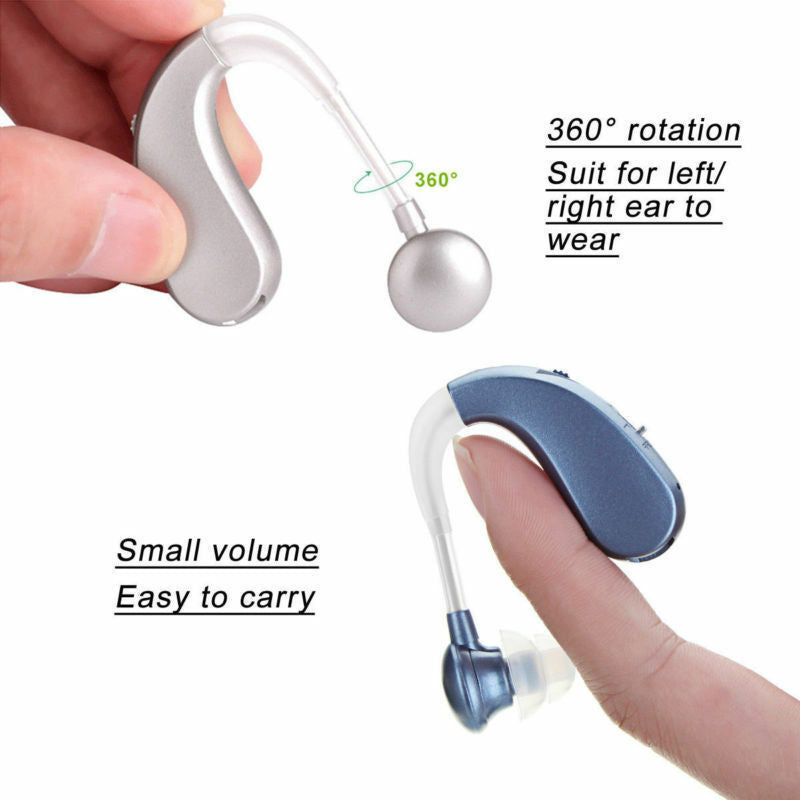 Rechargeable Digital Hearing Aids Assistance Severe Loss BTE Ear Aids HIGH-POWER