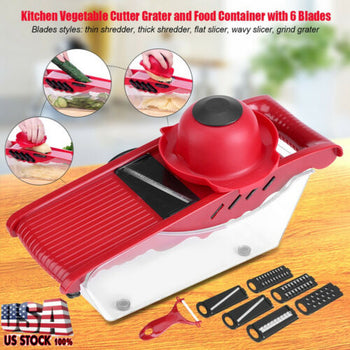 Mandoline Slicer Vegetable Food Slicer Kitchen Chopper Cutter Fruit Tomato