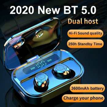2020 Waterproof Bluetooth Earbuds Headphones Wireless Headset Noise Cancelling