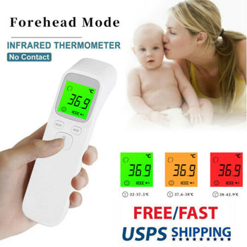 No Touch Digital Infrared Thermometer for Adult Baby Forehead Temperature °F/°C