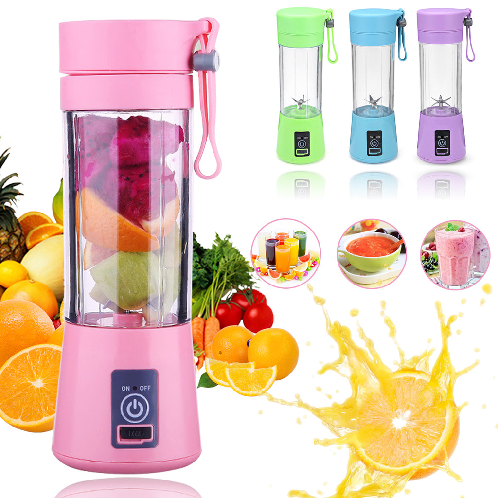 400ml 6 Blades USB Fruit Juicer Bottle Portable DIY Juicing Extracter Cup Machine
