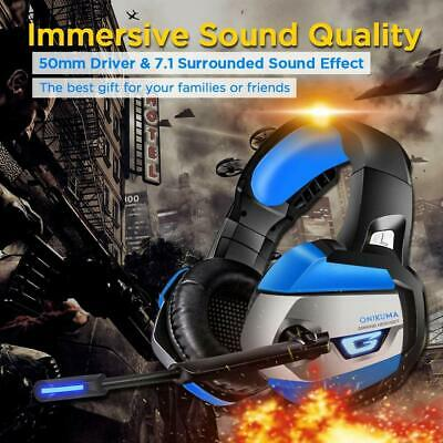 ONIKUMA 7.1 Surround Sound Gaming Headset for PS4, Xbox One, PC, Nintendo Switch