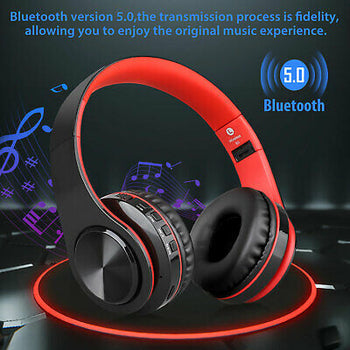 Wireless Bluetooth 5.0 Headphone Mic Stereo Earphone Super Bass Headset Foldable