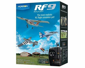 Realflight 9 RC Airplane Flight Simulator w/ Interlink DX Controller MD 2 MD2