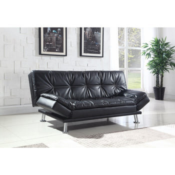 Modern Styled Comfortable Couch Bed, Black