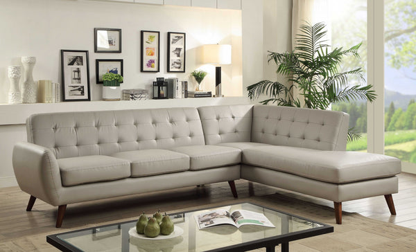 "111"" X 80"" X 29"" Gray Leatherette Sectional Sofa"