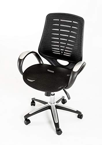 "41"" Black Plastic and Steel Office Chair"