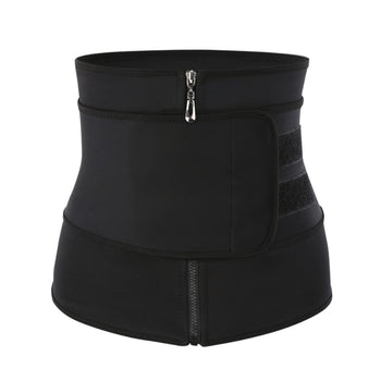 Yoga Slim Waist Trainer Tummy Girdle Zippe Belt Trainer Burning Fat Body Shaper Sport