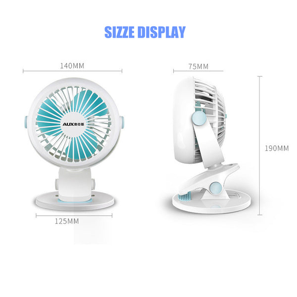 Portable USB Personal Fan USB Desk Clip Fan Portable Travel Clip Fan Rechargeable USB Mini Clamp Fan