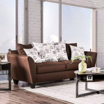 Contemporary Style Sofa, Chocolate