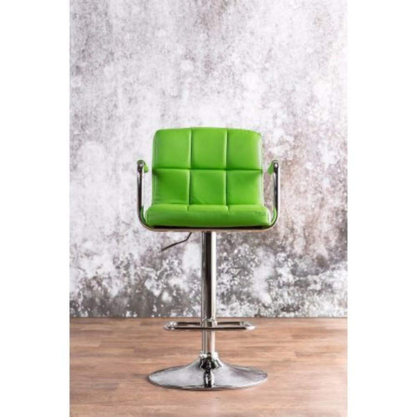 Contemporary Bar Stool With Arm In Green