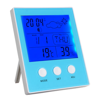 CH-904 Thermometer Hygrometer Temperature Humidity Tester Backlight Time Date Calendar Alarm Clock