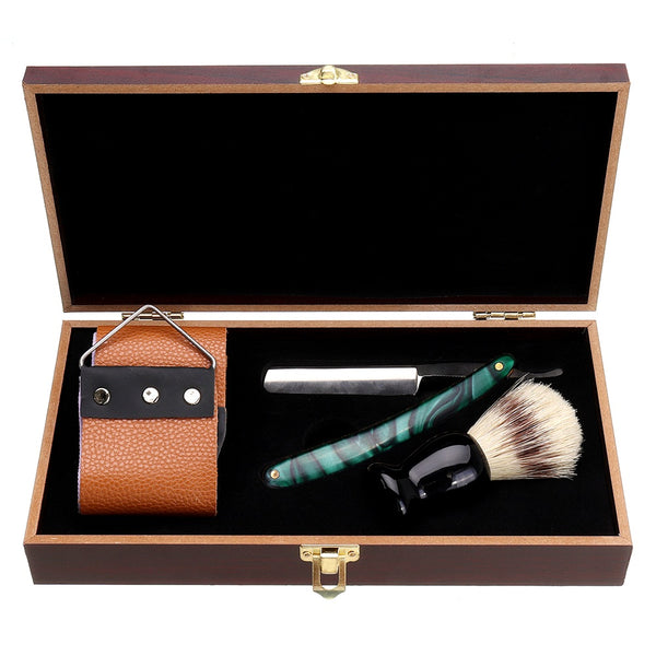 1X Shaving Straight Razor Set Box Beard Shaver Brush Sharpening Strap Barber Men
