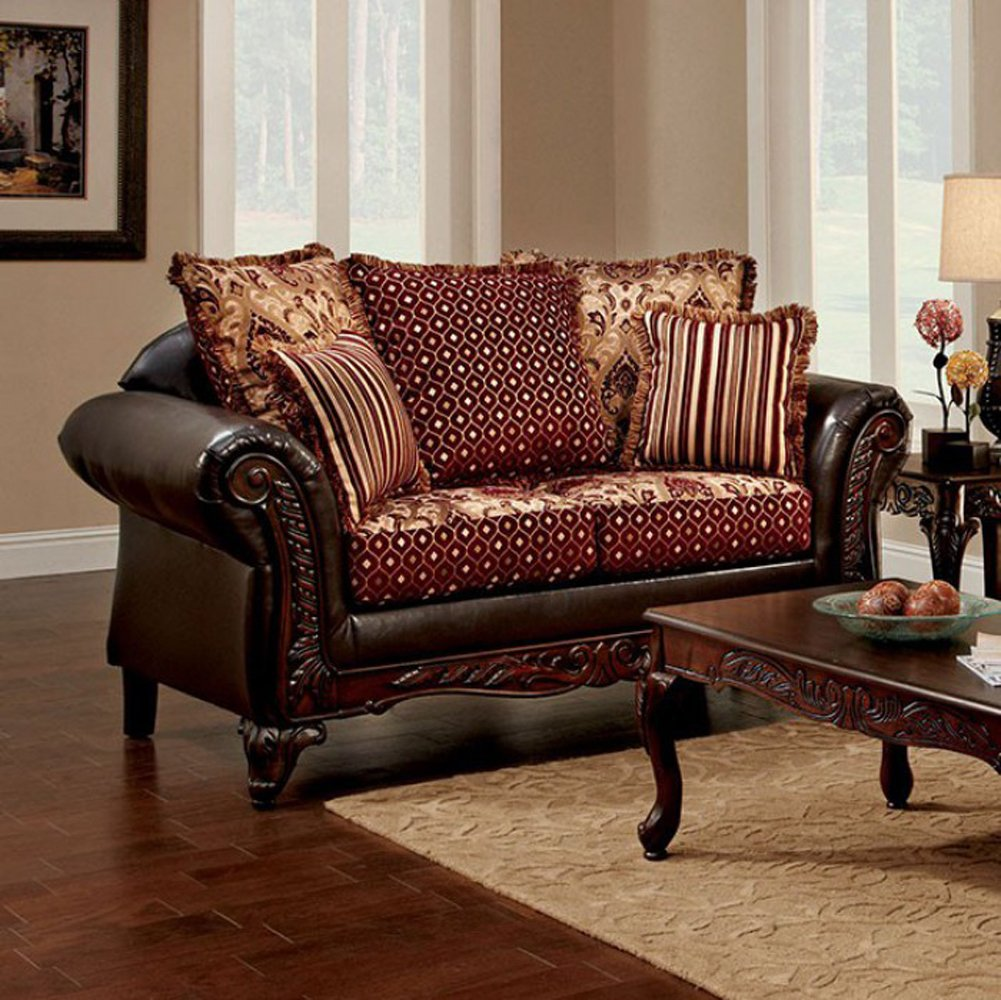 Traditional Love Seat, Brown