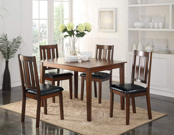 Stylish Wooden Dining Set, Black & Brown, 5 Piece set