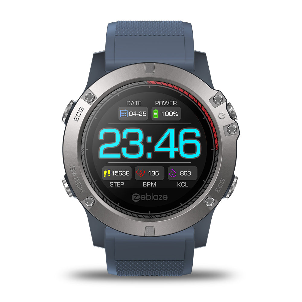 Zeblaze VIBE 3 ECG GREENCELL Heart Rate Instant ECG Activity Run Route Tracking Smart Watch