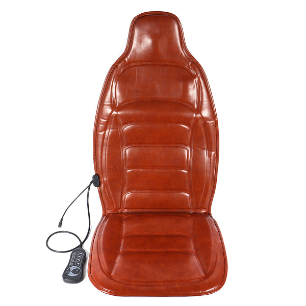 DC 12V Car Household Heated Full Body Massage Seat Cushion Back Lumbar Pain Relief Vibration Massager AC 110V-240V