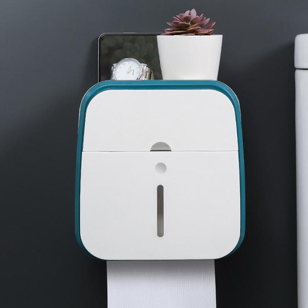 Toilet Hand Paper Towel Dispenser Tissue Box Holder Wall Mounted Bathroom Kit