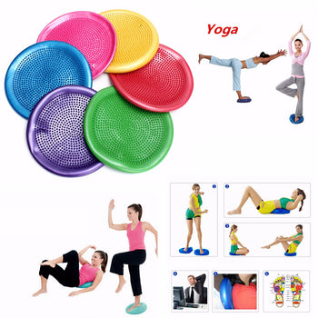 Yoga Exercise Pilates Trigger Massage Balance Cushion Gym Fitness Ball Thickening Riot