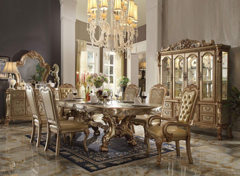 Smart Looking Dining Table, Gold