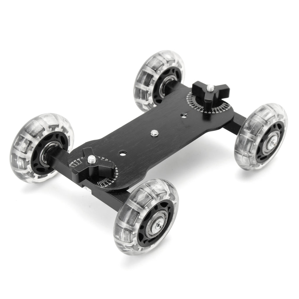 Desktop Camcorder DSLR Camera Video Wheels Rail Rolling Track Slider Dolly Car
