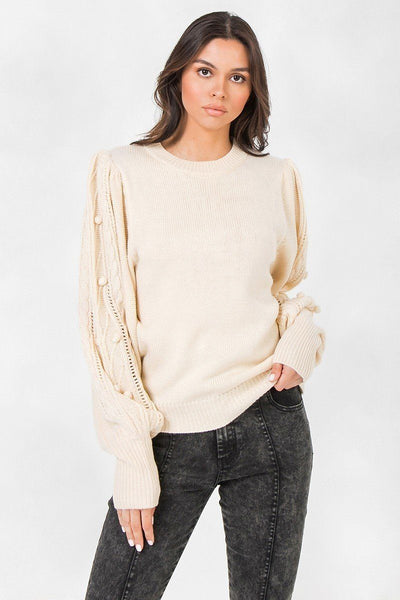A Sweater Featuring Round Neckline