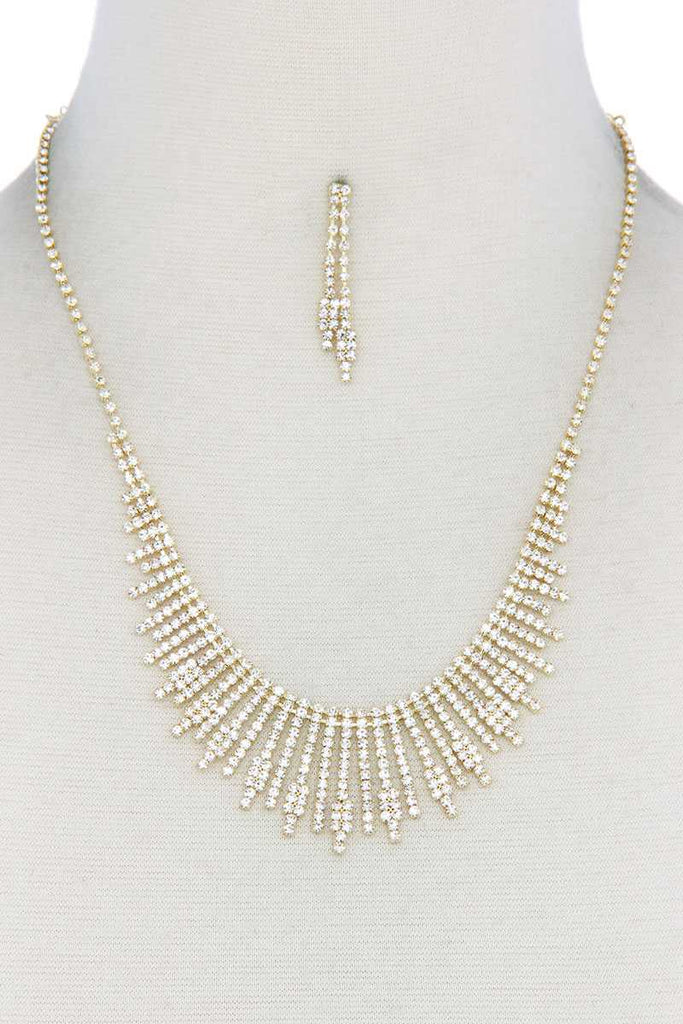 Dangle Rhinestone Necklace