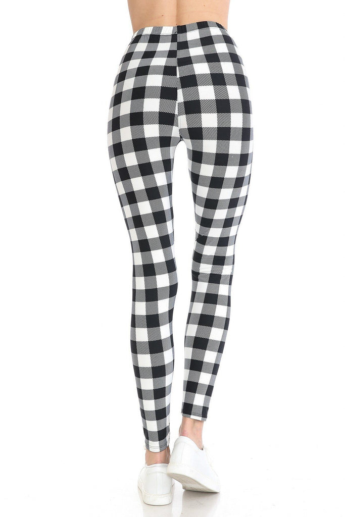 Multi Printed, High Waisted, Leggings With An Elasticized Waist Band