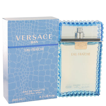Versace Man by Versace Eau Fraiche Eau De Toilette Spray (Blue) 6.7 oz for Men