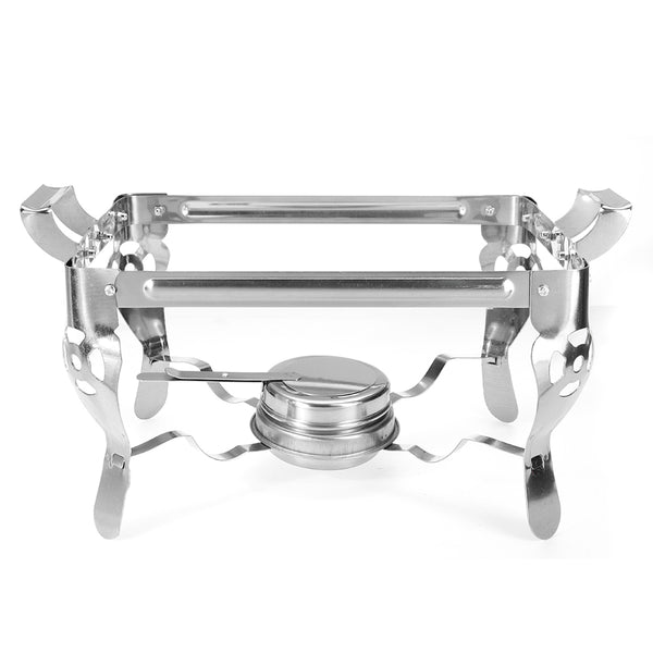 6L Stainless Steel Square Buffet Heating Stove Chafing Dish Buffet Stoves Caterer Wedding Party Food Warmer Tray Dinner Serving Simple Removal Buffet Stove