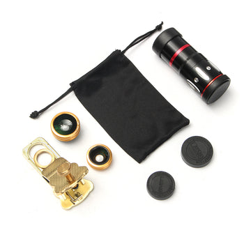 Universal 10X Zoom Clip On Mobile Phone Optical Camera Lens Telephoto Telescope