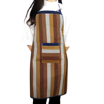 [Fragrant Coffee] Patchwork Chef Works/Art Works Bib Apron with Pocket