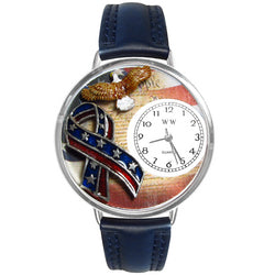 American Patriotic Watch in Silver (Large)