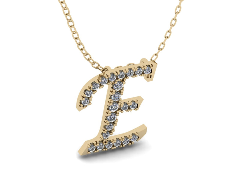 Letter Diamond Necklace - Initial Diamond Necklace